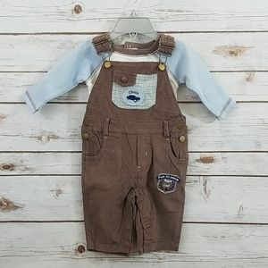 NWT Vitamins Baby Overalls Set Size 3 Months